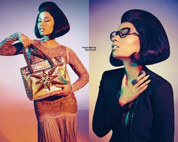 Nicki Minaj : Nouvelle égérie de couturier italien Roberto Cavalli ! Photographiée par Francesco Carrozzini, Nicki a pris la pose dans plusieurs tenues issues de la collection Printemps/Eté 2015 de Roberto Cavalli.