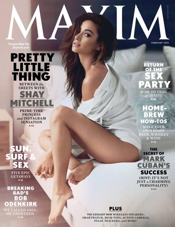 """La magnifique Shay Mitchell pose pour la couverture du magazine """" MAXIM """" On aime ?"""