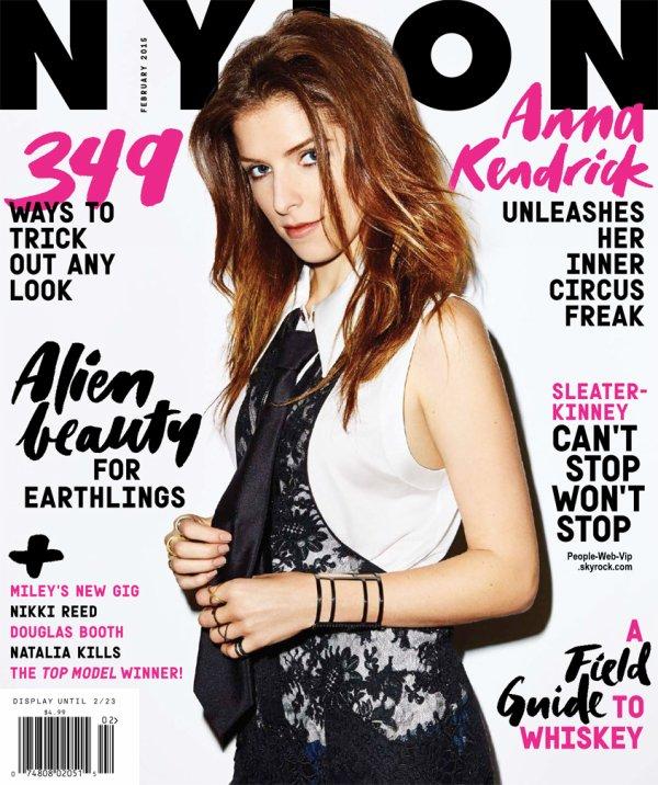 Anna Kendrick pose sur la couverture du numéro de Février du magazine Nylon. Qu'en pensez vous?