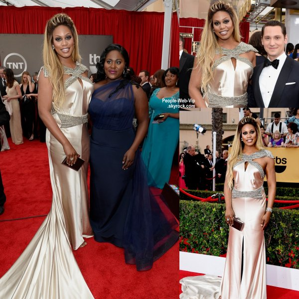 - Screen Actors Guild Awards 2015 - RED CARPET  Uzo Aduba, Laverne Cox, Danielle Brooks, Matt McGorry, Taryn Manning et Kate Mulgrew, Viola Davis, la future maman Keira Knightley, Julia Roberts sur le tapis rouge de la cérémonie tenue au Shrine Auditorium. ( dimanche (25 Janvier) à Los Angeles.)