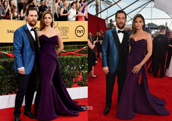 - Screen Actors Guild Awards 2015 - RED CARPET   Sofia Vergara et son fiancé Joe Manganiello, Julianne Moore, Matthew McConaughey et sa femme Camila Alves, Paula Patton et Reese Witherspoon sur le tapis rouge de la cérémonie. (au Shrine Auditorium dimanche (25 Janvier) à Los Angeles)