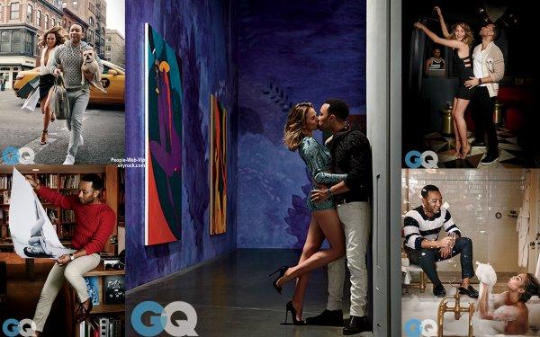 John Legend et Chrissy Teigen pose pour GQ