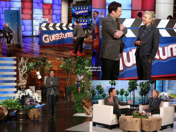 Jimmy Fallon a fait une apparition lors du The Ellen DeGeneres Show (diffusée le (30 Janvier)