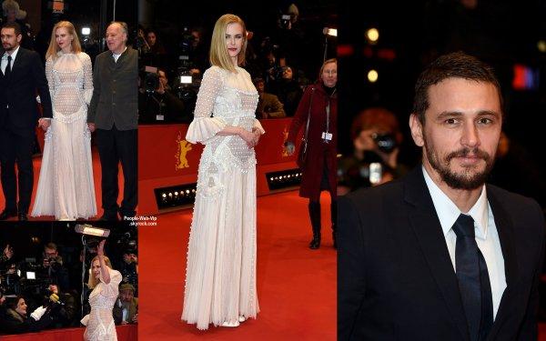 """Nicole Kidman élégante dans une robe blanche à la première de son film """"Queen of the Desert"""" pendant le """"2015 Berlinale International Film Festival""""  au Grand Hyatt Hôtel. L'actrice a été rejoint par ses co-stars James Franco, Damian Lewis et réalisateur Werner Herzog. (vendredi (6 Février) à Berlin, Allemagne.)"""
