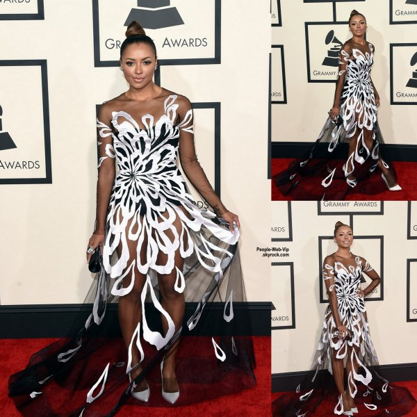 - LES GRAMMY's AWARDS 2015 - RED CARPET    C'est selon moi la plus belle tenue de la soirée, et c'est Kat Graham ! Apercu sur le tapis rouge Pharrell Williams et sa femme Helen Lasichanh, Gwen Stefani, Ciara, Lady Gaga, Katy Perry et le beau Chris Brown lors des Grammy's Awards tenue au Staples Center. (dimanche (8 Février) à Los Angeles.)