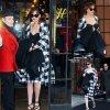 """Dakota Johnson quitte son hôtel pour se rendre à l'émission """"The Late Show with David Letterman""""  pour encore et toujours faire la promo de son fil """" Cinquante Nuances de Grey""""  (mardi (17 Février) à New York City.)"""