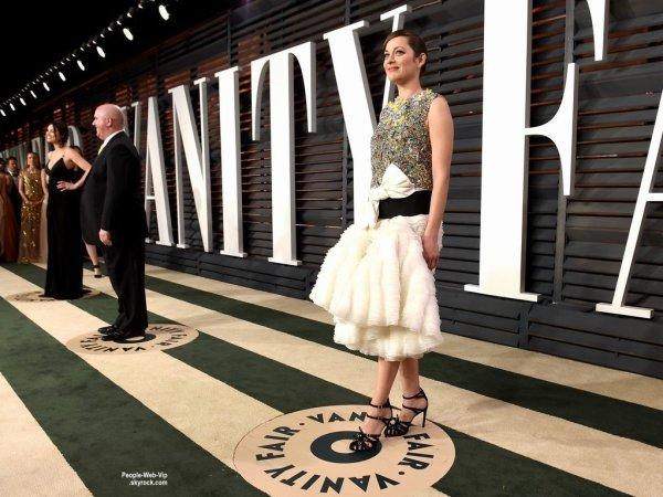 """- Vanity Fair Oscar Party -    Miranda Kerr, Emma Stone, Jennifer Lopez et Marion Cotillard lors de la """"Vanity Fair Oscar Party"""" pendant les Oscars 2015.   ( dimanche soir (22 Février) à Beverly Hills, en Californie.)"""