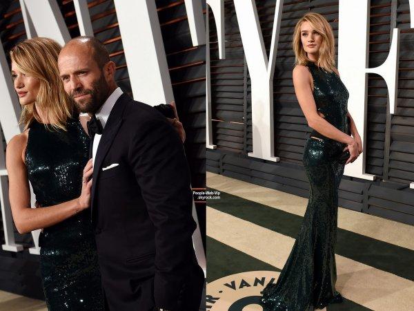 """- Vanity Fair Oscar Party -    La chanteuse Sia et son mari Erik Anders Lang, Christina Aguilera, Kat Dennings et son petit ami  Josh Groban, Jason Statham et sa petite amie Rosie Huntington-Whiteley lors de la """"Vanity Fair Oscar Party"""" pendant les Oscars 2015.   ( dimanche soir (22 Février) à Beverly Hills, en Californie.)"""