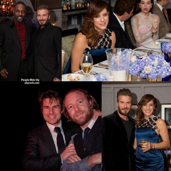 """Tom Cruise a été aperçu au """"Haig Club London"""" avec David Beckham et le réalisateur Guy Ritchie. Mais aussi Kate Walsh et Idris Elba. (mardi (3 Mars) à Wellington Arch à Londres, en Angleterre.)"""