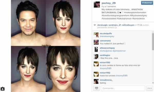 (BUZZ)  Maquilleur et acteur, Paolo Ballesteros a posté plusieurs photos de ses compétences de maquillage de fous où il se est transformé en Reese Witherspoon, Kim Kardashian, Dakota Johnson et plus encore. REGARDEZ !