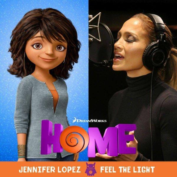 """Jennifer Lopez dévoile son nouveau clip """"Feel the Light""""  issu de la B.O du film """" Home"""" Qu'en pensez vous?"""