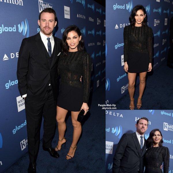 """Kerry Washington pose pour les photographes lors de la cérémonie """"2015 GLAAD Media Awards"""". Elle a été rejoint par Channing Tatum et sa femme Jenna au Beverly Hilton Hôtel. (samedi soir (21 Mars) à Beverly Hills, en Californie.)"""