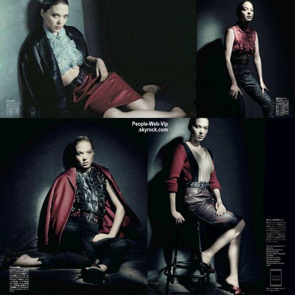 Lea Seydoux pose sur la couverture du numéro de mai du magazine Vogue Japon. Qu'en pensez vous?