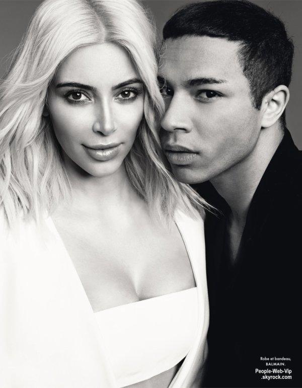 Kim Kardashian avec sa chevelure blonde platine sur la couverture du magazine Elle France. Qu'en pensez vous?