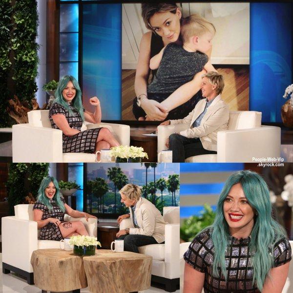"""Hilary Duff aperçue sur le plateau de """" The Ellen DeGenres Show""""  (lundi (30 Mars) à New York City.)"""