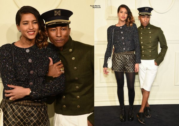 Beyonce, Pharrell Williams et son épouse modèle Helen Lashichanh, Dakota Johnson et Lily Collins lors d'un événement de mode à New York City. (mardi (31 Mars)