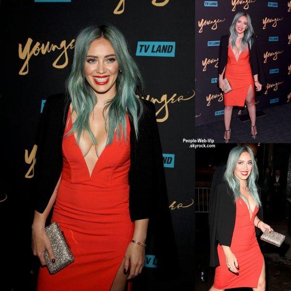 """Hilary Duff a été aperçue à la première de sa nouvelle série """"Younger """" à New York City. (mardi (31 Mars) au Landmark de Sunshine Cinema)"""