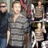 """Ryan Gosling a été aperçu dans les rues de Paris. Il a fait une apparition dans l'émission """" Le Grand Journal."""" ( lundi à Paris, France (6 Avril)."""