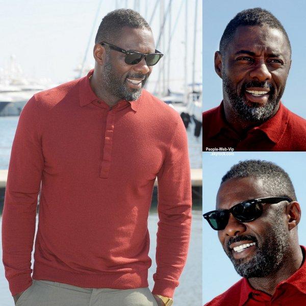 """Idris Elba a été aperçu a Cannes pour la promouvoir de son nouveau documentaire """"Mandela, My Dad and Me""""  au MIPTV. (mardi (14 Avril) à Cannes, France.)"""