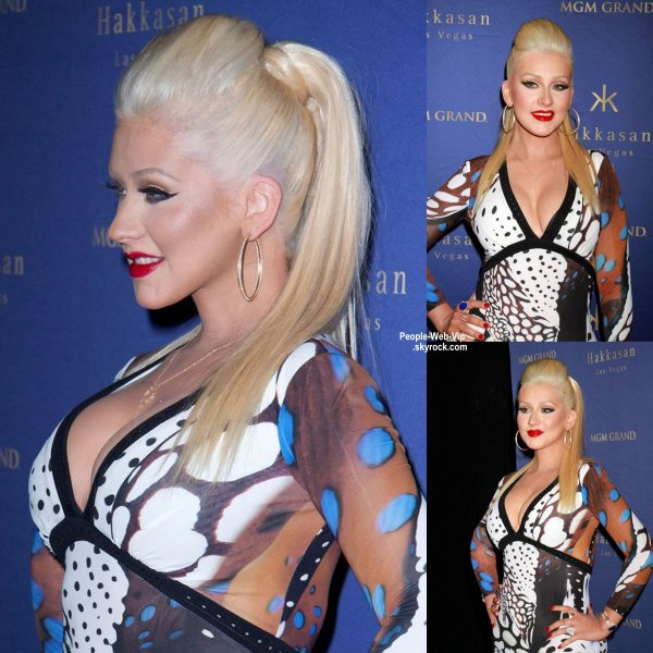 Christina Aguilera aperçue au deuxième anniversaire du Hakkasan Hakkasan Nightclub à Las Vegas  (au MGM Grand Hôtel / Casino le vendredi (17 Avril) à Las Vegas.)
