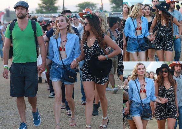 Joshua Jackson a été aperçu au cours du deuxième week-end du Festival de musique de Coachella 2015. L'acteur a été rejoint par son amour de longue date Diane Kruger et leur amie Nina Dobrev. (samedi (18 avril) à Indio, en Californie.)