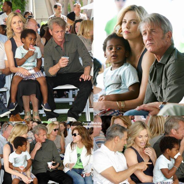 """Charlize Theron aperçue avec son fils Jackson lors du """" generationOn West Coast Block Party """"  tenue au studio Fox Lot. L'actrice a été rejoint par son chéri Sean Penn. (samedi (18 Avril) à Century City, en Californie.)"""