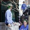 Jared Leto a été aperçu avec ses amis dans les rues de Toronto. L'acteur cache notamment ses cheveux vert vif pour son rôle du Joker dans Suicide Squad. ( samedi (18 Avril) à Toronto, Canada.)