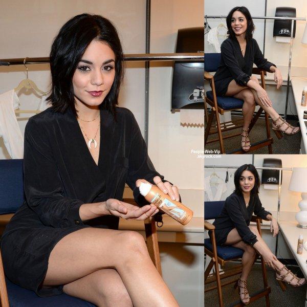 Vanessa Hudgens aperçue dans les coulisses de ABC Studios avant de promouvoir sa pièce Gigi lors d'une interview. ( lundi (20 Avril) à New York City.)