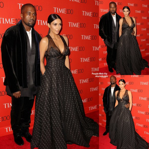 "Kim Kardashian et Kanye West arrive à la soirée ""Time 100 Gala ""au Lincoln Center à New York City. ( mardi (21 Avril)"