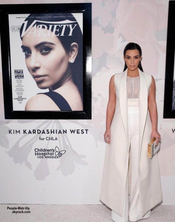 """Kim Kardashian a été aperçue sur le tapis rouge lors de l'événement """"2015 Variety Power of Women""""  ( vendredi (24 Avril) à New York City.)"""