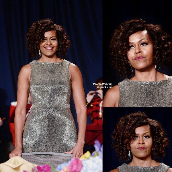 """Le président Obama  a été rejoint à l'événement par la Première Dame, Michelle Obama, le beau Bradley Cooper , Norman Reedus et Lauren Cohan lors du """" 2015 White House Correspondents 'Association Dinner""""   (au Hilton Washington le samedi (25 Avril) à Washington, DC)"""