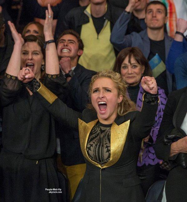 Hayden Panettiere, Maman et fan exaltée, devant le combat de son fiancé Wladimir Klitschko contre Bryant Jennings  (au Madison Square Garden, samedi (25 Avril) à New York.)