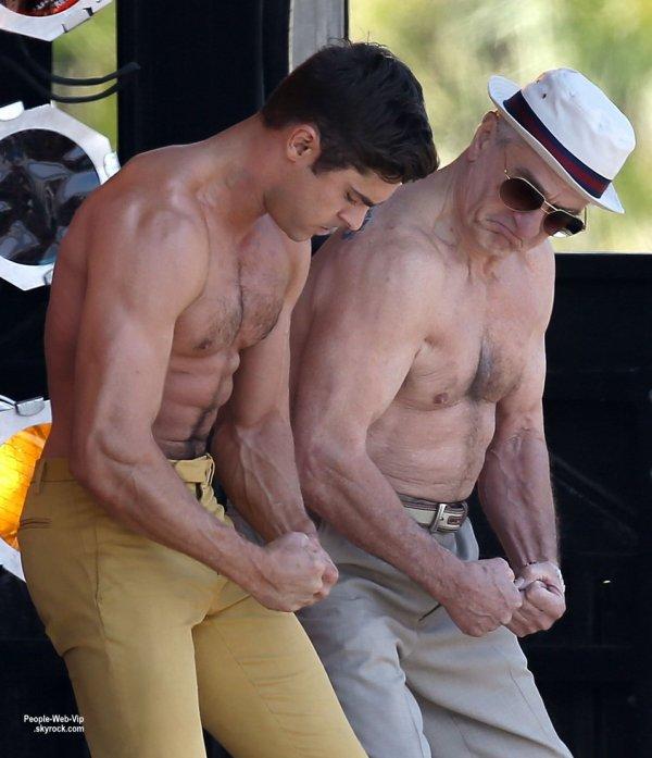 """Zac Efron a été aperçu avec son co-star Robert De Niro lors d'un tournage de scènes pour leur prochain film """"Dirty Grandpa""""  ( jeudi (30 Avril) à Tybee Island, en Géorgie.)"""