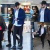 Robert Pattinson et sa chérie FKA marchent côte à côte dans l'aéroport de JFK. Les fiancés pourrait finalement faire leur première apparition officielle sur tapis rouge au Met Gala ce lundi soir.  (dimanche après-midi (le 3 mai) à New York.)