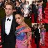 """- MET GALA 2015 - RED CARPET -    Voici la première apparition officielle du couple Robert Pattinson et sa fiancée FKA sur la tapis rouge lors de la soirée """"  2015 Met Gala """" au Metropolitan Museum of Art (lundi (4 mai) à New York.)"""