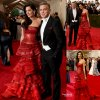 """- MET GALA 2015 - RED CARPET -      George Clooney et son épouse Amal prennent la pose sur la tapis rouge lors de la soirée """"  2015 Met Gala """" au Metropolitan Museum of Art. Que pensez vous de sa tenue?  (lundi (4 mai) à New York.)"""