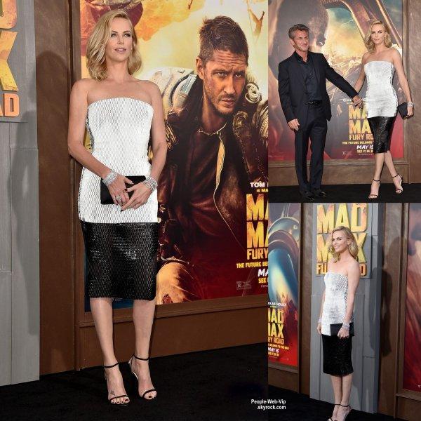 Charlize Theron assiste à la première de son nouveau film Mad Max: Fury Road au TCL Chinese Theatre. L'actrice a été rejoint par son petit ami Sean Penn. ( jeudi soir (7 mai) à Hollywood.)