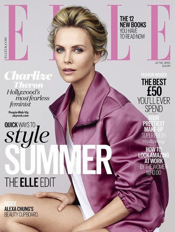 Charlize Theron pose sur la couverture du numéro de Juin du magazine ELLE UK. Photographié par Bjarne Jonasson, l'actrice pose avec les marques Intimissimi, Bottega Veneta, BLK DNM, American Apparel, DSquared2 et Sonia Rykiel. Qu'en pensez vous?