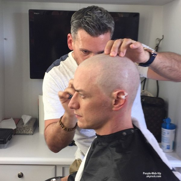 X-Men – Apocalypse :  James McAvoy chauve !