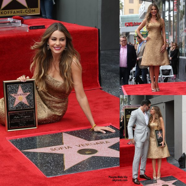 Sofia Vergara a reçu son étoile sur le Hollywood Walk of Fame. L'actrice a été rejoint par son fiancé Joe Manganiello. (jeudi (7 mai) à Hollywood.)
