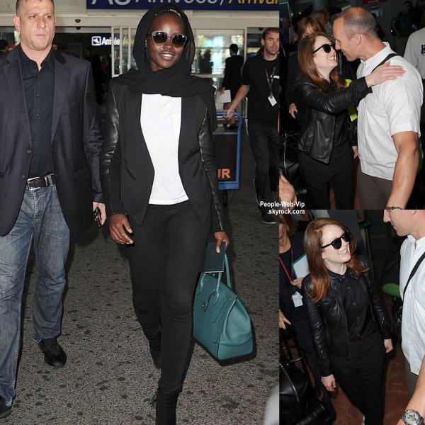 Lupita Nyong'o, Jake Gyllenhaal, Julianne Moore, John Legend, et Charlize Theron ont tous été repérés à l'aéroport de Nice pour le Festival de Cannes 2015  (mardi (12 mai) à Nice, France.)