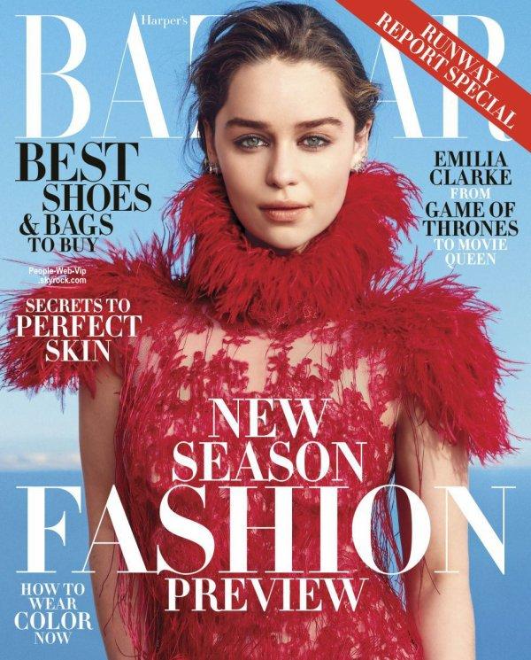 Emilia Clarke prend la pose sur la couverture du numéro de Juin / Juillet du magazine américain Harper Bazaar. Qu'en pensez vous ?