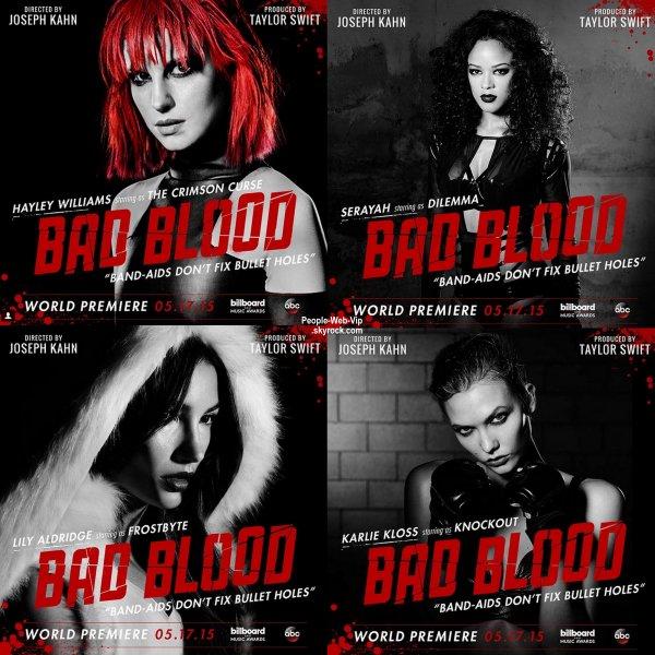 """""""Bad Blood"""" :   Le prochain clip de Taylor Swift s'annonce très lourd avec un casting haut de gamme !"""