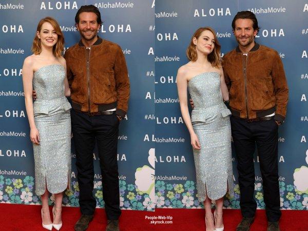 Emma Stone et Bradley Cooper assistait à une projection VIP de leur nouveau film Aloha  au Soho Hôtel. (samedi (16 mai) à Londres, en Angleterre.)