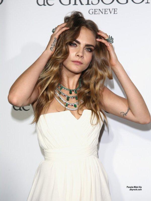"""Cara Delevingne a été aperçue au show """"De Grisogono """"  pendant le Festival de Cannes 2015  (mardi (19 mai) au Cap d'Antibes, France.)"""