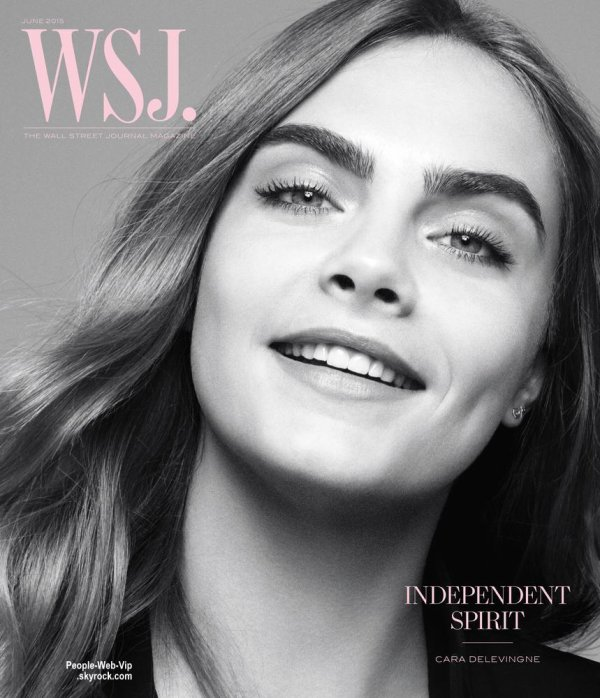 """Cara Delevingne prend la pose pour le magazine """" WSJ """" a paraître en juin. Qu'en pensez vous?"""