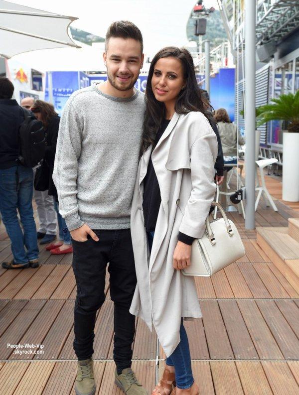 "Liam Payne et sa petite amie Sophia Smith posent ensemble à la Station ""Infiniti Red Bull Racing Energy Station "" à Monaco. ( jeudi (21 mai) à Monte-Carlo, Monaco.)"