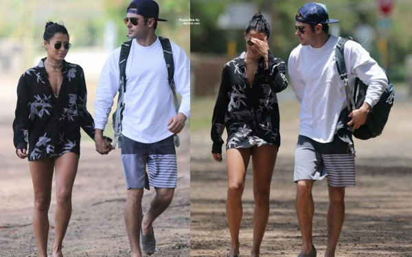 Zac Efron a été aperçu avec sa petite amie Sami Miro prés de la plage d'Hawaï. (samedi après-midi (30 mai) à Oahu, Hawaii.)