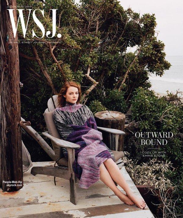 """Emma Stone orne la couverture du magazine """" WSJ """" de Juillet / Août 2015 en kiosques le 27 Juin. Qu'en pensez vous?"""