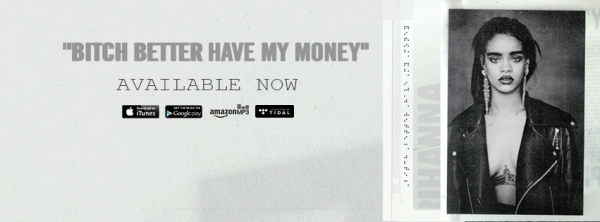"""Rihanna dévoile son nouveau clip """" Bitch Better Have My Money (Explicit)""""  Qu'en pensez vous?"""